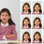 Portrait individuel avec photos d'identité