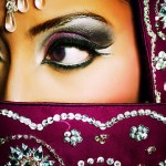 Indian bride looking away