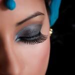 Beautiful Indian woman eyes closed